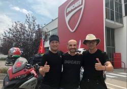 Ken Lu e Lv Fei con Claudio Domenicali, amministratore delegato Ducati.