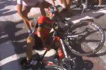 Moto della polizia francese lo fa cadere: frattura di una vertebra, per Nibali finisce il Tour de France