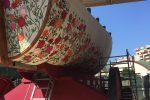 Le prime immagini del carro del Festino di Santa Rosalia: rose stilizzate e colori in onore della Santuzza