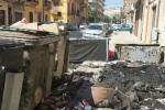Cassonetti bruciati a Palermo