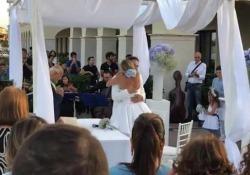L'attore romano e la giornalista, dopo essersi detti sì a Las Vegas, hanno celebrato le seconde nozze in Basilicata, dove si sono conosciuti.