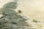 Zhong Han, Acque del fiume e libri di pietra (Baiheliang), 2004, Pittura ad olio e materiale vario