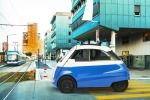 Microlino nuova Isetta pensata in Svizzera costruita a Imola