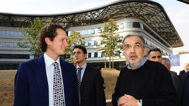 John Elkann con Sergio Marchionne