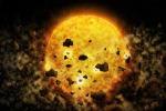 Rappresentazione artistica della giovane stella RW Aur A circondata dai detriti dei suoi pianeti (fonte: NASA/CXC/M.Weiss)
