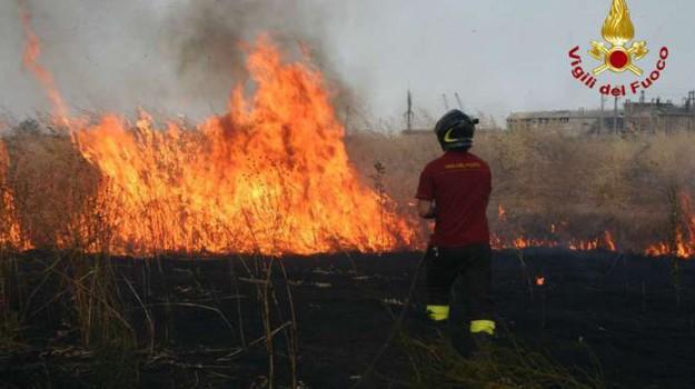 incendio rilievo, Trapani, Cronaca