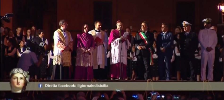 """Il 394° Festino di Santa Rosalia a Palermo: il video della processione delle reliquie. Lorefice: """"Siamo chiamati a un cambiamento"""""""