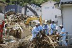 I danni causati dal maltempo in Giappone