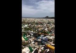 Le immagini filmate da una ong: già rimosse trenta tonnellate di rifiuti
