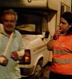 Mohamed dopo l'aggressione a Palermo