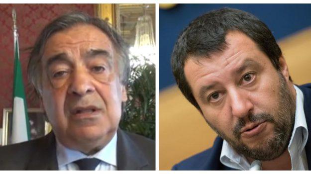 Lampedusa, Lega, migranti, Leoluca Orlando, Matteo Salvini, Sicilia, Politica