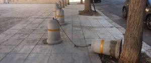 Vandali in piazza Anita Garibaldi, a Brancaccio, Palermo