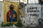 """Palermo, sfregiato il murales de """"La Santa morte"""" alla Vucciria"""