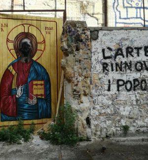 """Il murales """"La Santa Morte"""" sfregiato"""