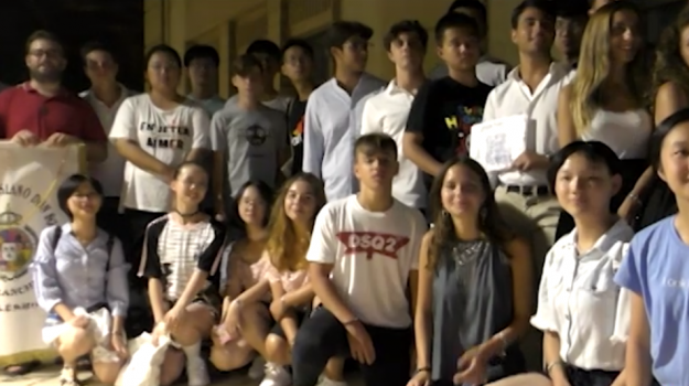 Ragazzi cinesi in visita a Palermo