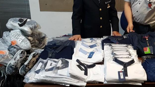 abiti contraffatti, aeroporto fontanarossa catania, guardia di finanza catania, Catania, Cronaca