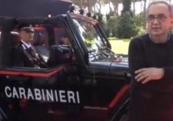 Nel mese di giugno l'ex ad di Fca aveva consegnato all'Arma una Jeep Wrangler