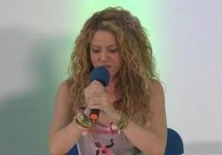 La cantante colombiana racconta l'infortunio alla corde vocali