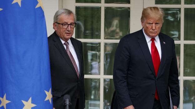 Dazi Usa Trump, Donald Trump, Jean Claude Juncker, Sicilia, Mondo