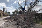 I danni provocati dal vento in via Pietro Bonanno su Monte Pellegrino a Palermo
