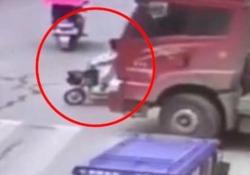 Il filmato dell'incidente arriva da Henan, Cina centrale