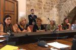 Un'immagine dell'audizione di oggi in commissione sulla legge per abolire il voto di genere. Nella foto le leader delle associazioni di donne convocate dal presidente Stefano Pellegrino