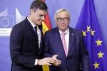 Pedro Sanchez e Jean-Claude Juncker