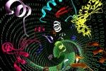 Rappresentazione artistica delle molecole che potrebbero diventare gli antibiotici del futuro (fonte: Ella Marushchenko)