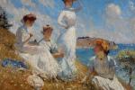 La tela Estate, dipinta nel 1909 da Frank Weston Benson