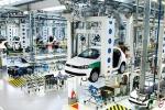 Una delle nuove linee nello stabilimento Volkswagen di Sao Bernardo do Campo