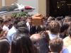 I funerali di Luca Giacoletti, il ventenne palermitano annegato all'Addaura