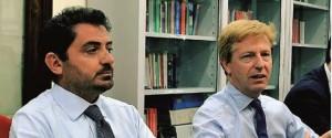 Il presidente dell'Olimpica Akragas Giovanni Amico e il sindaco di Agrigento Lillo Firetto