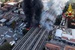 Vittime e feriti a Bologna, le immagini dopo l'incendio in autostrada