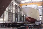 Le immagini della nuova nave Tirrenia: tir fra Genova, Livorno e Catania