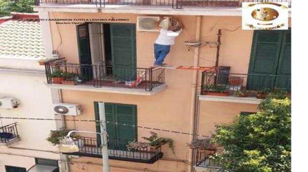 lavoro nero palermo, operaio in bilico palermo, Palermo, Cronaca