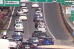 Traffico intenso in uscita da Palermo, auto incolonnate in direzione aeroporto
