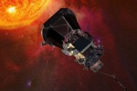 Rappresentazione artistica della sonda Parker della Nasa in viaggio verso il Sole (fonte: NASA)