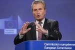 Il commissario Ue al Bilancio, Guenther Oettinger