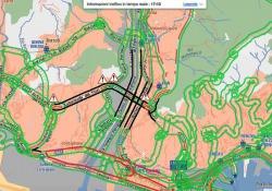 Oltre alla zona interdetta alla circolazione, altre strade di Genova risultano fortemente ingorgate
