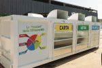 Un centro di raccolta rifiuti nel trapanese