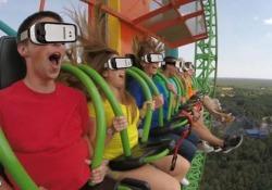 L'attrazione nel parco divertimenti Six Flags Great Adventure nel New Jersey, Usa