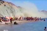 Agrigento, crolla costone sulla spiaggia di Zingarello: paura tra i bagnanti