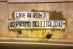 Gli striscioni di Forza Nuova contro Orlando, Palermo
