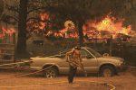 Incendio in California, Usa