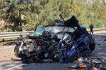 L'auto che si è scontrata col camion, foto di Seguonews.it