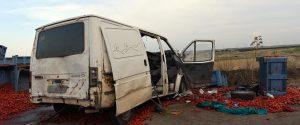 Lo scontro fra tir e furgone avvenuto nelle campagne del Foggiano