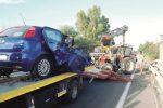 Incidente a Porto Empedocle, scontro tra un'auto e un trattore: ferito un uomo