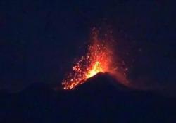 Esplosioni dal cratere di Sud Est