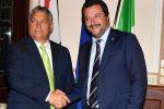 Il premier ungherese Viktor Orban a Milano con Matteo Salvini