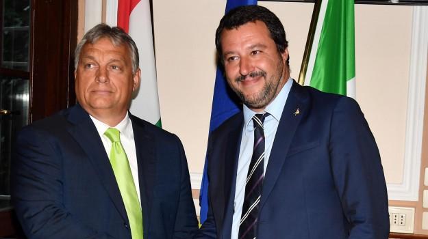 migranti, vertice salvini orban, Matteo Salvini, Viktor Orban, Sicilia, Politica